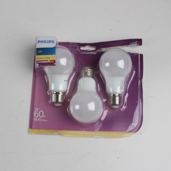 Led žárovky Philips 60W warm white 3 ks