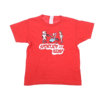 Dětské tričko Gildan červené s potiskem