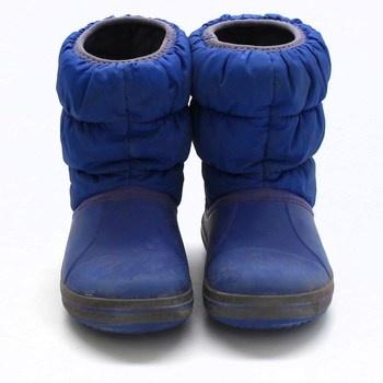 Dětské sněhule Crocs Winter Puff Boot modré