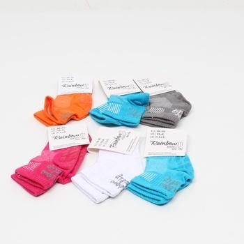 Dívčí ponožky Rainbow 6 párů