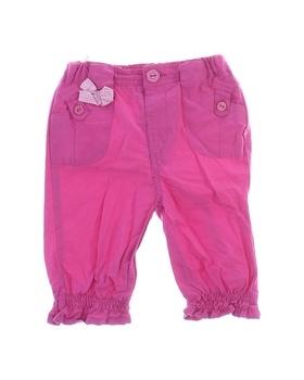 Dětské kalhoty Okay plátěné růžové