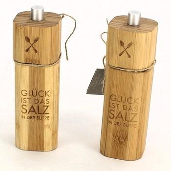 Bambusové mlýnky na sůl Räder GLÜCK 2ks