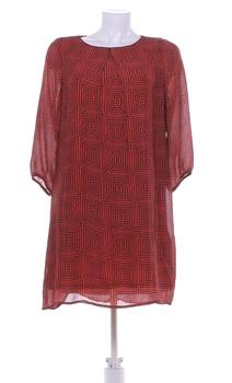 Dámské volné šaty H&M hnědé se vzorem