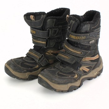 Dětské zimní boty Commando černé