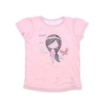 Dívčí tričko s potiskem Primark růžové