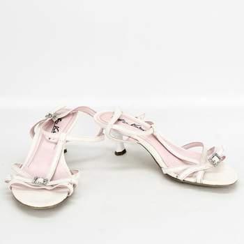 Dámské společenské sandále Gino Ventori bílé