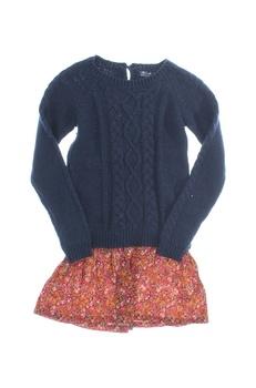 Dívčí svetr tmavomodrý Next