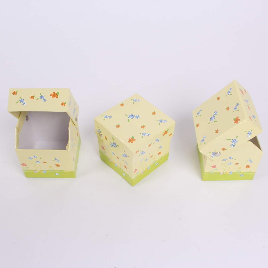 Papírové krabičky 3 ks