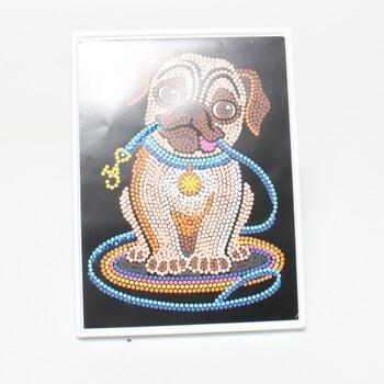 Obrázek z flitrů Pes Mammut 8011502