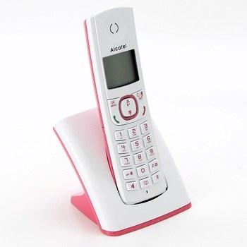Bezdrátový telefon Alcatel F530 růžový