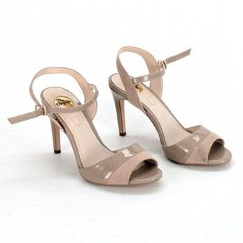 Páskové dámské boty Buffalo Aida béžové EU37