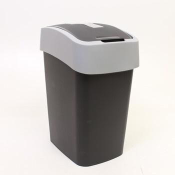 Šedý odpadkový koš Curver 25 l