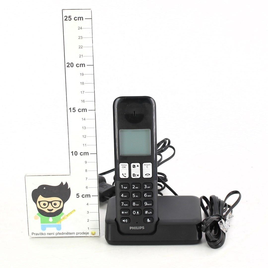 Bezdrátový telefon Philips D2301B černý