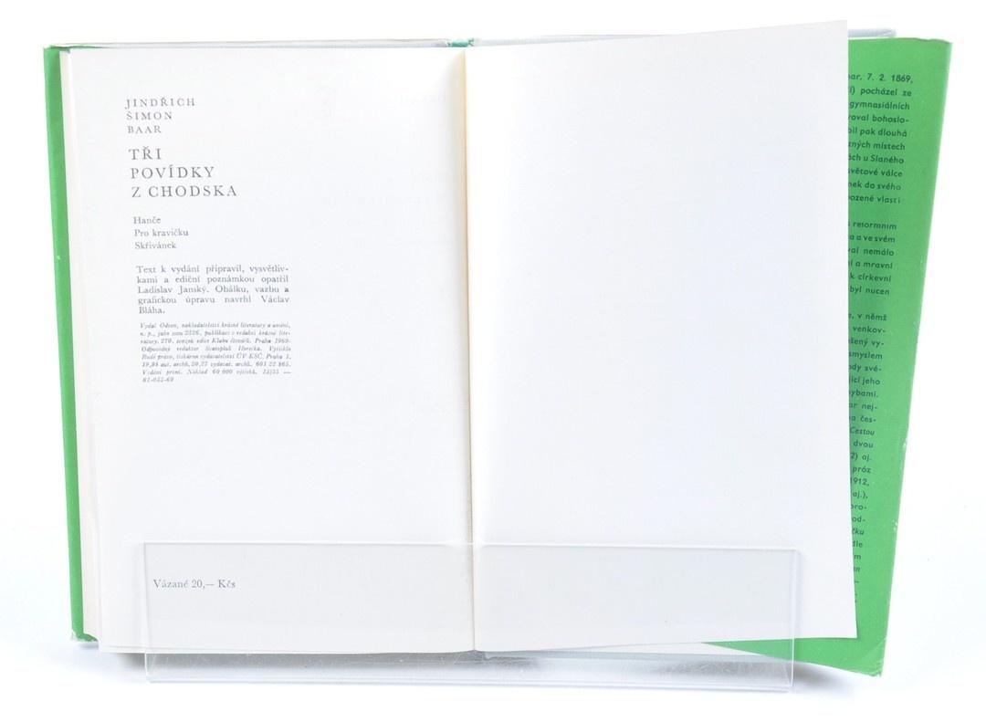 Kniha Jindřich Š. Baar: 3 povídky z Chodska