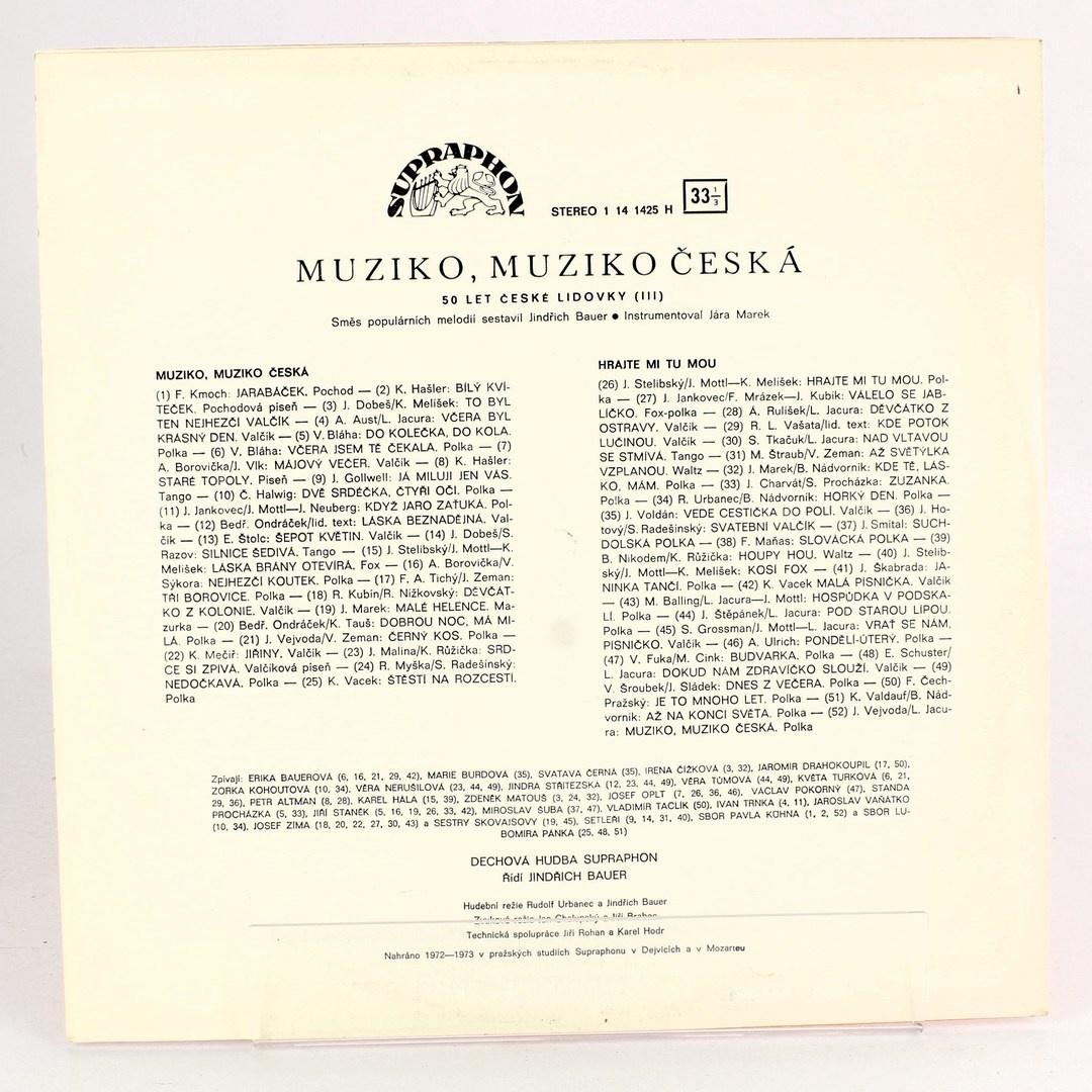 Gramofonová deska Muziko, muziko česká