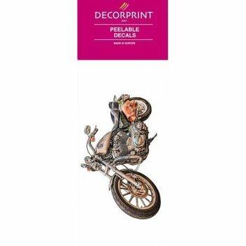 Obtisk na porcelán a sklo Decorprint motorka