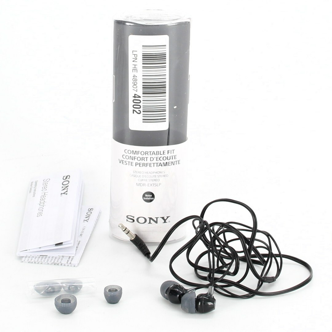 Sluchátka do uší Sony MDR-EX15LP, černá