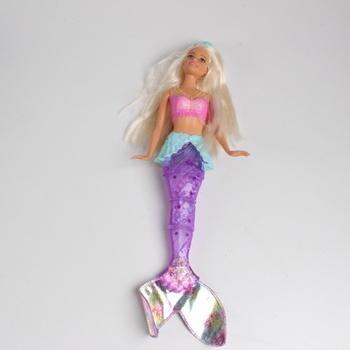 Svítící mořská panna Barbie - pohyblivý ocas