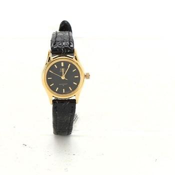 Dámské hodinky Q Q s černým ciferníkem - bazar  540acbb630