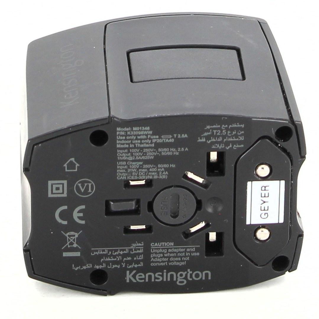 Cestovní adaptér Kensington E-Check