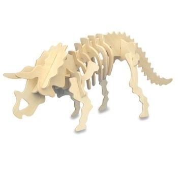 3D dřevěné puzzle Lamps triceratops