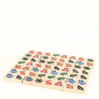 Dřevěné domino Eichhorn - motiv zvířátka