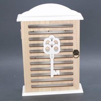 Dřevěná skříňka na pověšění klíčů