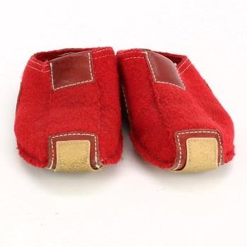 Domácí papuče Haflinger červené