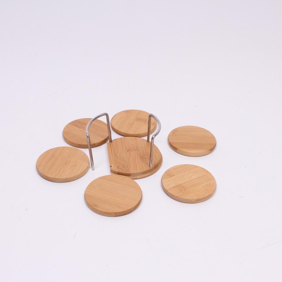Dřevěné podšálky se stojánkem