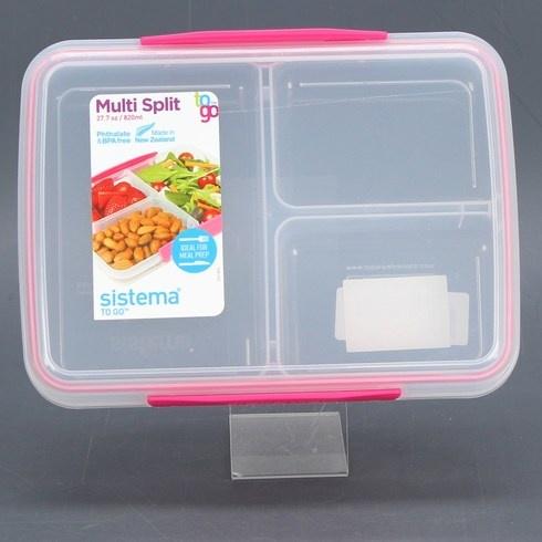 Plastová obědová dóza Sistema To Go modrá