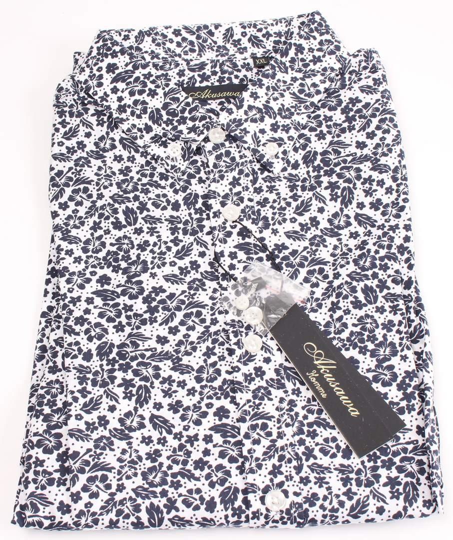 Pánská košile Akusawa, černo-bílá