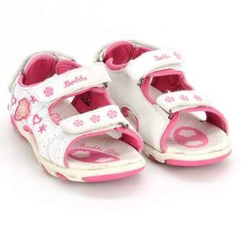 73c8e3836d77 Dívčí sandálky Bobbi Shoes bílé s květinami