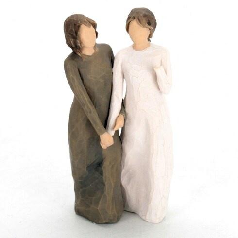 Dekorace Willow tree figurky sestry