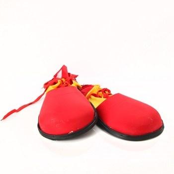 Klaunovské boty Boland 555509 červeno-žluté