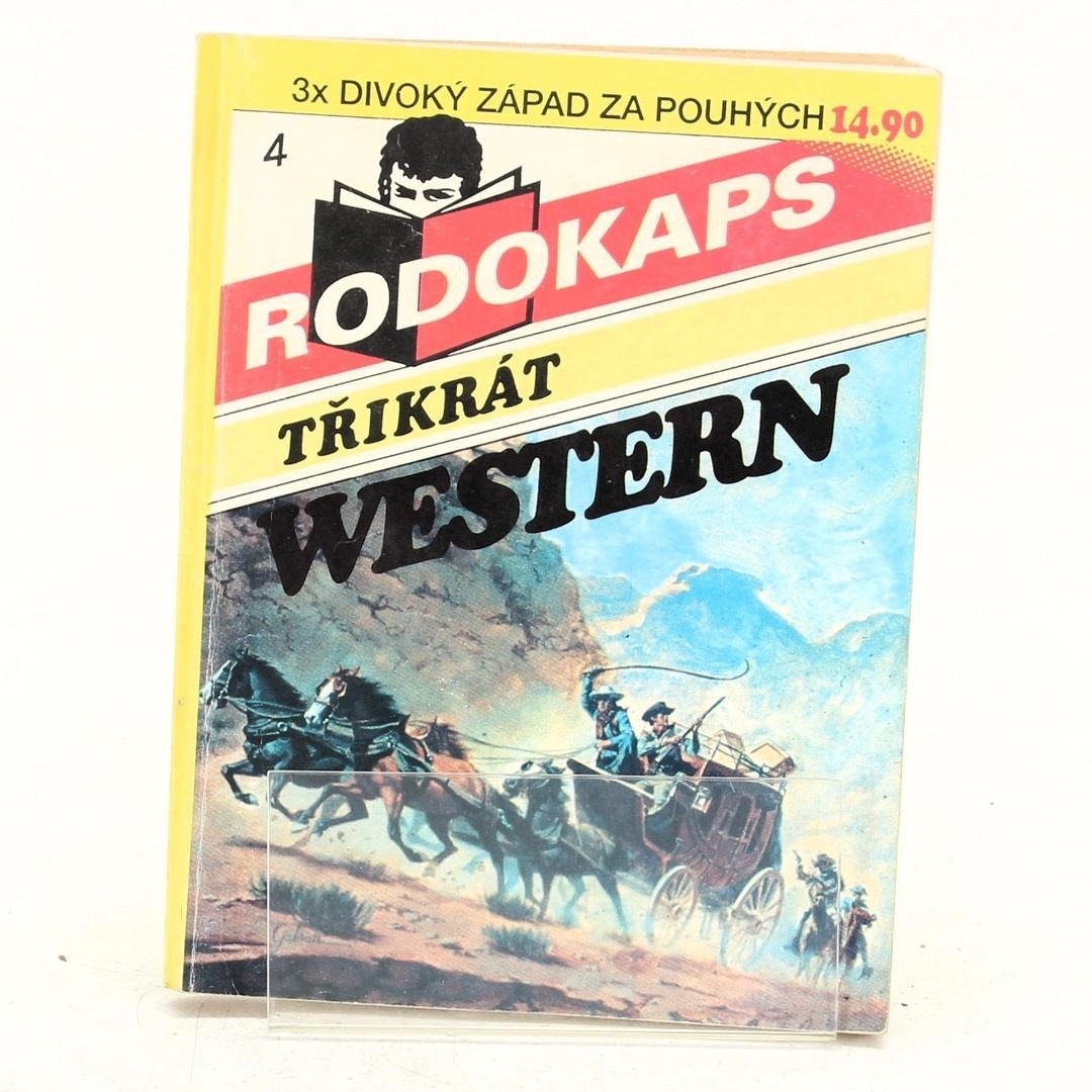 Sešitové romány Rodokaps několik vydání