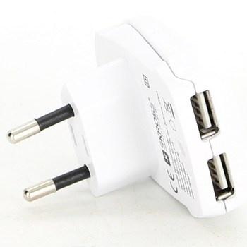 Nabíječka Skross 2x USB A bílá