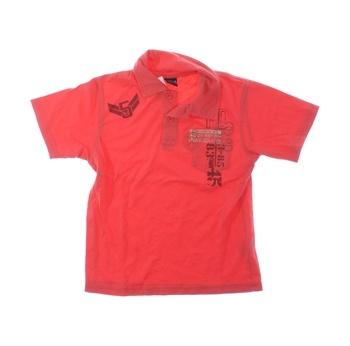 Dětské polo tričko Next růžové s nápisem