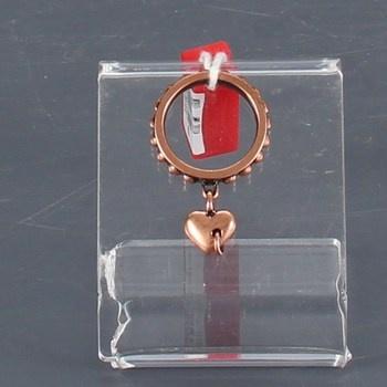 Dámský prsten Miss Sixty ocel v barvě bronzu