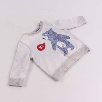 Dětská mikina F&F šedá s medvědem