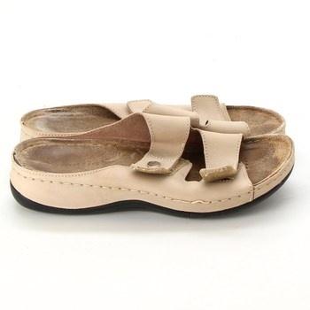 Dámské pantofle Tamaris béžové