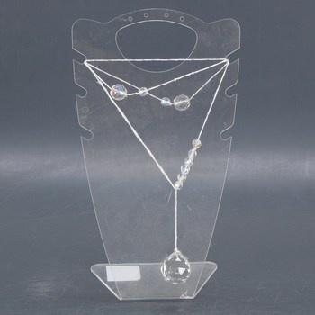 Dámský náhrdelník s průhlednými korálky