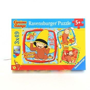 Puzzle 3 x 49 Ravensburger Curiours George