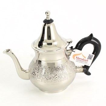 Čajová konvice Marrakesch stříbrná