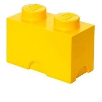 Plastový úložný box Lego žlutý
