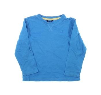 Dětské triko George modré s dlouhým rukávem