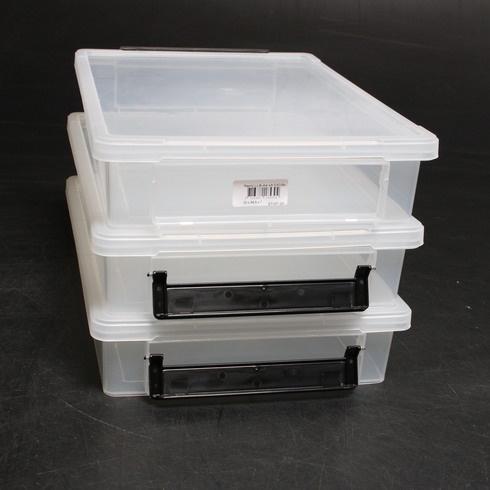 Plastové boxy s víkem Iris 135450 3 ks