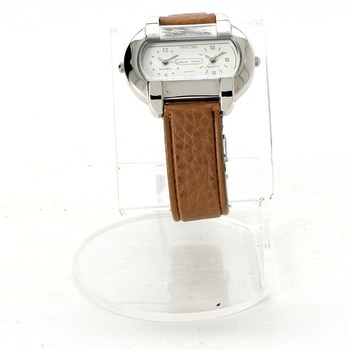 Dámské hodinky Charles Delon Twin time hnědé f8f54317db