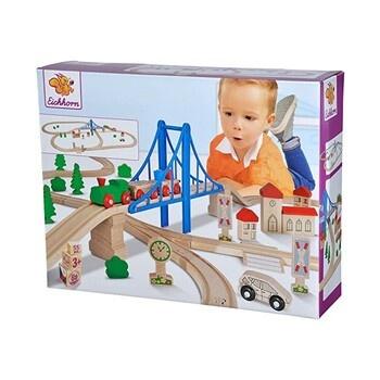 Vláčkodráha Eichhorn s mostem dřevěná