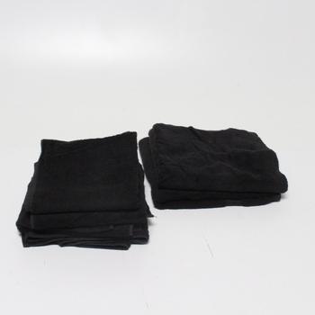 Sada ručníků a osušek AmazonBasics 4+2 černé