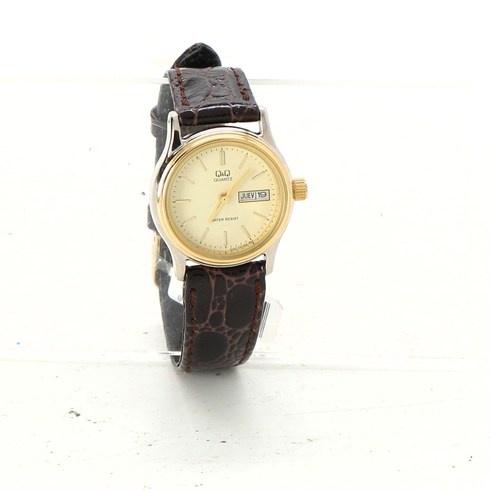 f0766edaaf Dámské hodinky Q Q zlaté barvy - bazar